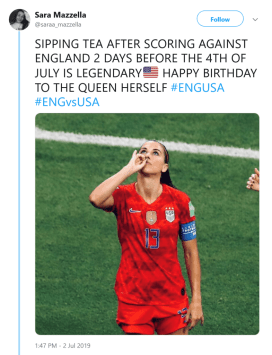 Alex Morgan's Controversial Celebration