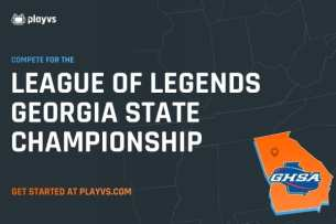 Georgia was one of the first states to offer esports in high school with PlayVS (image from GHSA.net).