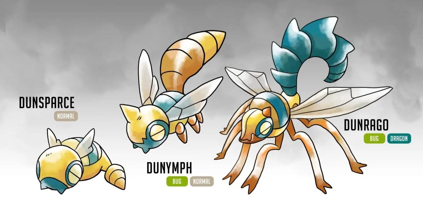 dunsparce evolutions