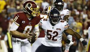 Case Keenum and Redskins fall to Bears during Monday Night Football