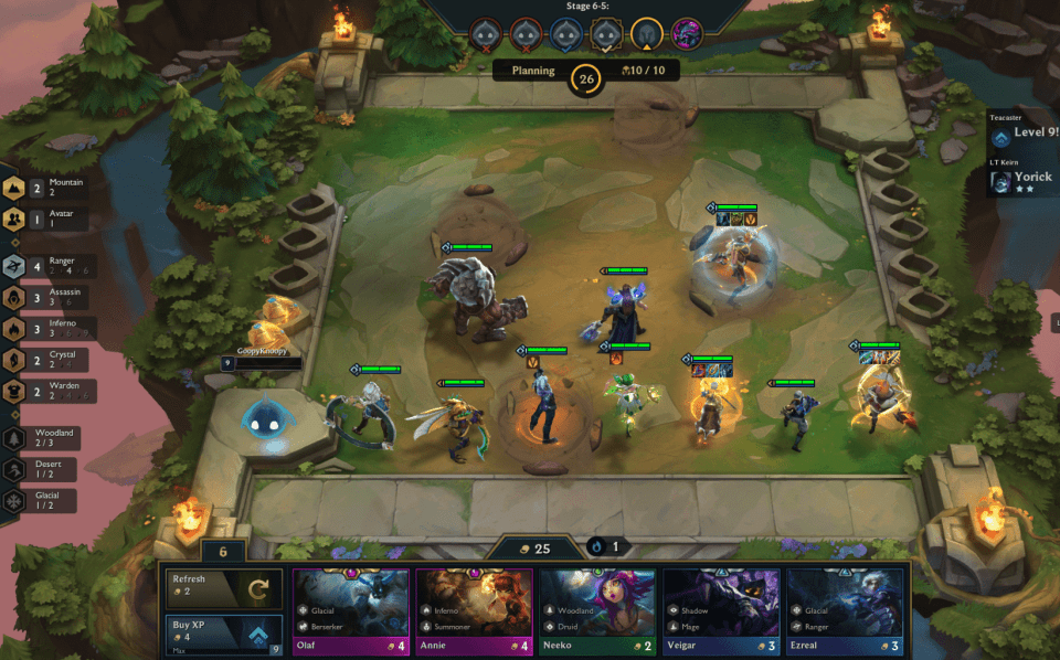 A febre do auto chess e Teamfight Tactics, o auto chess de League of Legends