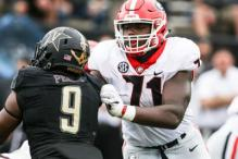 The Redskins should think about picking Andrew Thomas in the 2020 draft.