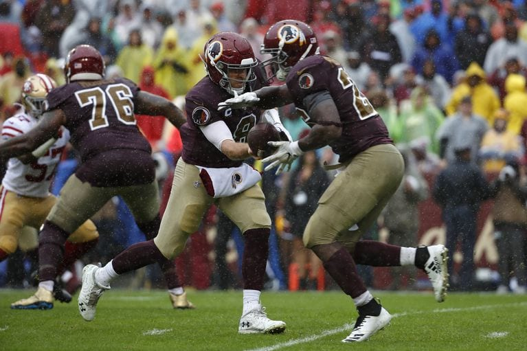 The Redskins fell to the 49ers on Sunday, putting them at 1-6 on the season.