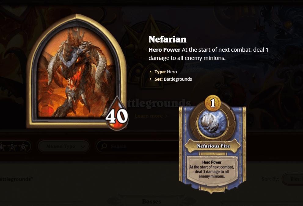 hearthstone battlegrounds nefarian