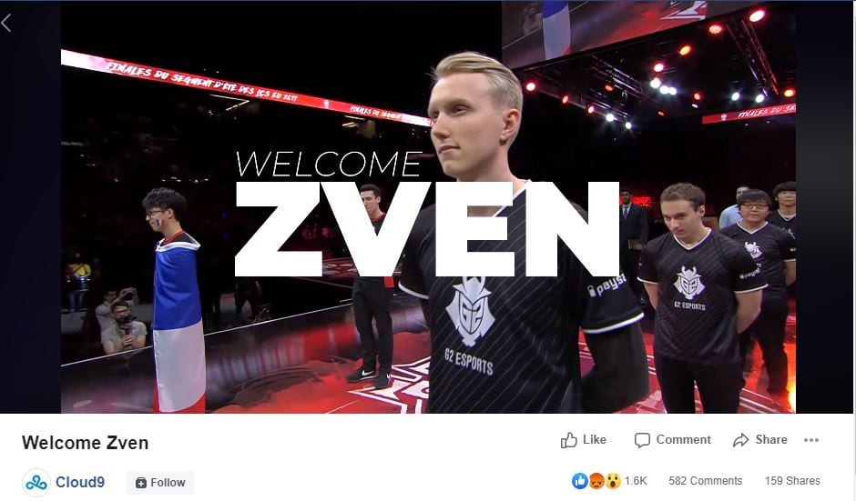 Zven is joining Cloud9