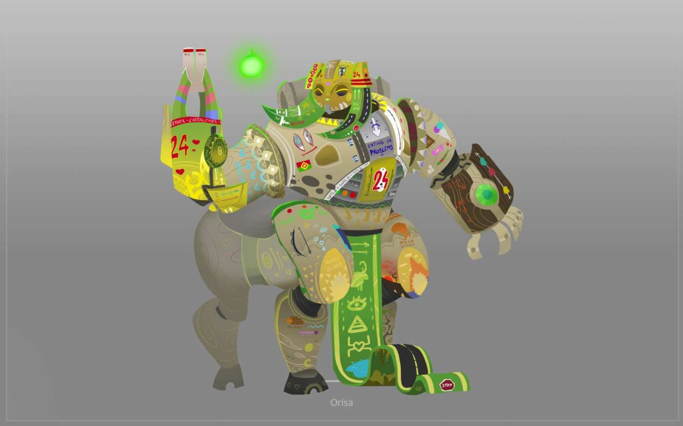 orisa overwatch art