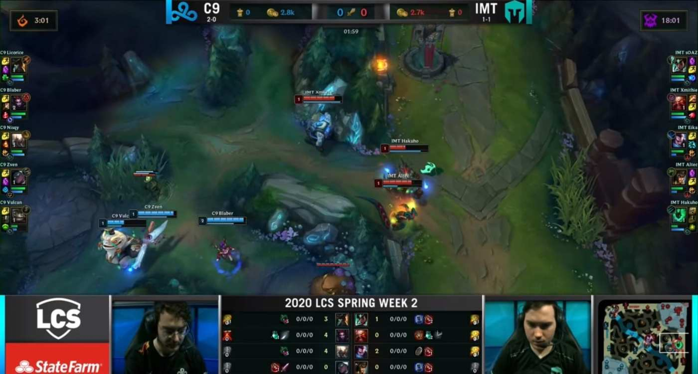C9 stole Xmithie's blue buff and forced Hakuho's Flash.