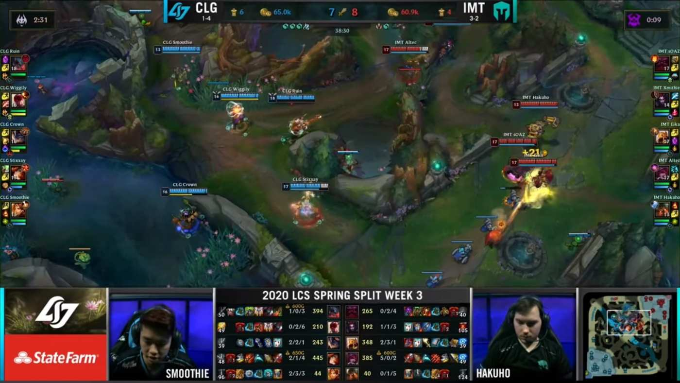 CLG pushed mid and started setting up vision around Baron.