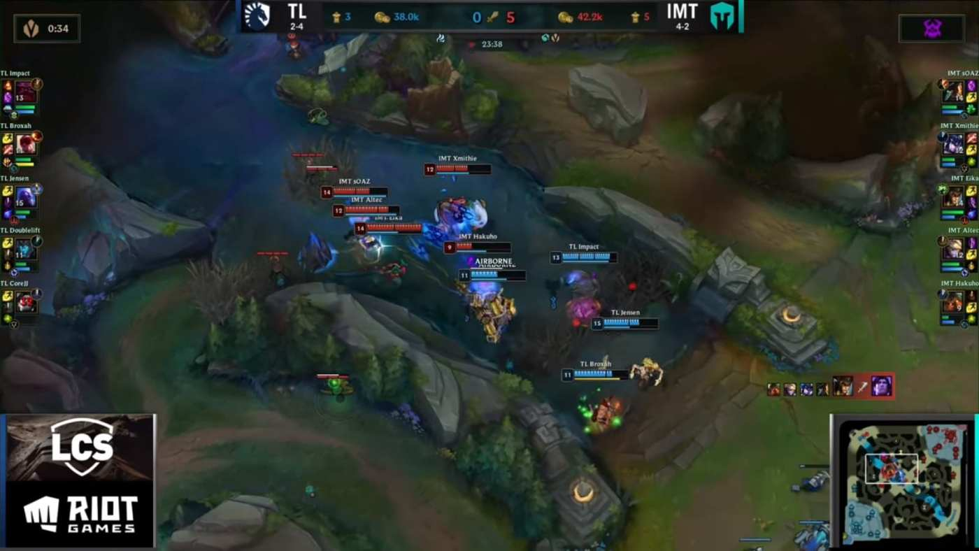 IMT caught out Doublelift near Baron.