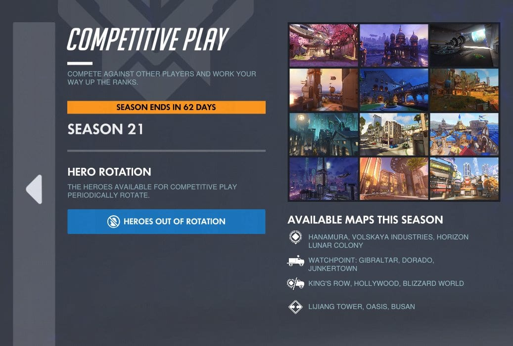 season 21 map pool