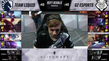 A Team Liquid v. G2 draft from Rift Rivals 2019