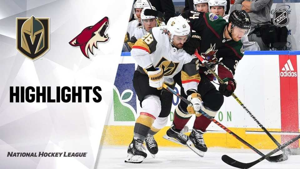Golden Knights defeat Coyotes in their exhibition game