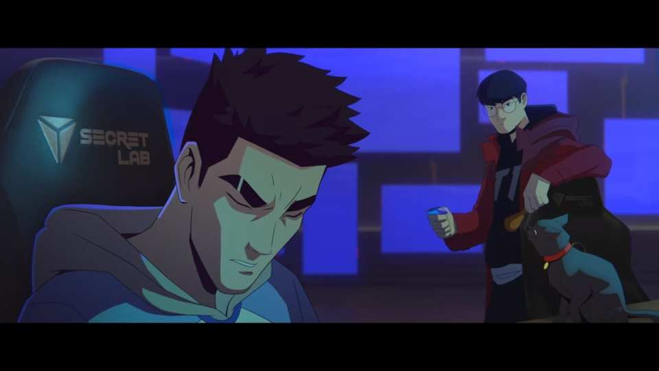 Faker trains the protagonist in the Take Over music video.