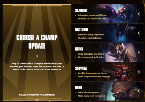 Champion Rework Vote