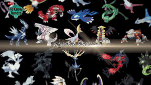 Showing legendary Pokemon, which will be allowed back into Ranked Battle Series 10