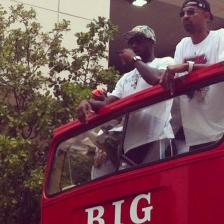 Lebron James sul bus