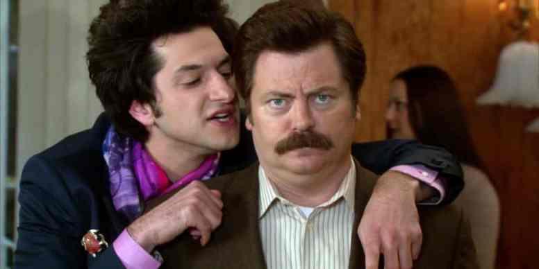 "Jean Ralphio ""talks"" to Ron Photo Source: Swansonquotes.com"