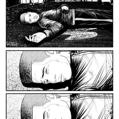 Internal page of PUSHERMAN #1