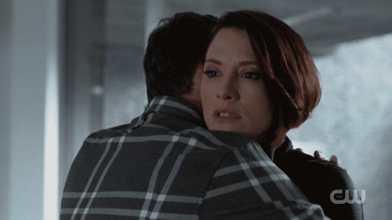 Winn and Alex hugging