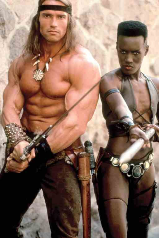 CONAN THE DESTROYER, Arnold Schwarzenegger, Grace Jones, 1984, (c)Universal/courtesy Everett Collect
