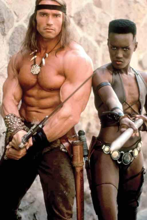 CONAN THE DESTROYER, Arnold Schwarzenegger, Grace Jones, 1984, (c)Universal/courtesy Everett Collect