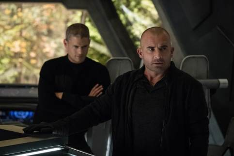 Wentworth Miller as Leo - X/Citizen Cold (left) and Dominic Purcell as Micky Rory/Heatwave (right). Photo courtesy of DC Legends TV.