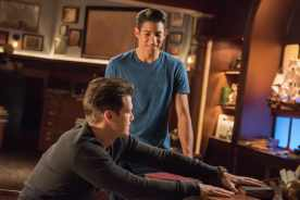 Nick Zano as Nate Heywood/Steel (right) and Keiynan Lonsdale as Wally West (left). Photo courtesy of DC Legends TV.