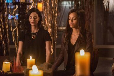 Tala Ashe as Zari (left) and Maisie Richardson-Sellers as Amaya Jiwe/Vixen (right). Photo courtesy of DC Legends TV.