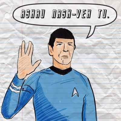 Spock says I love you in vulcan
