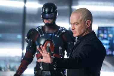 Brandon Routh as Ray Palmer/Atom (left) and Neal McDonough as Damien Darhk (right). Photo courtesy of DC Legends TV.