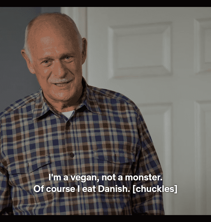 Vegans eat danish