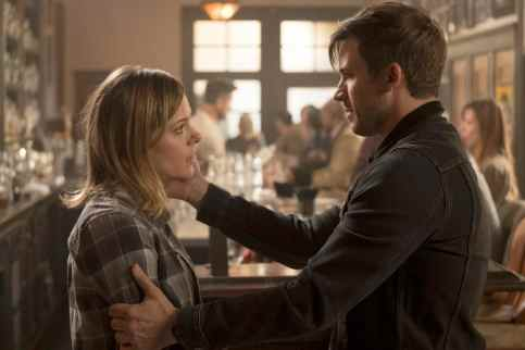 """TIMELESS -- """"The Salem Witch Hunt"""" Episode 204 -- Pictured: (l-r) Tonya Glanz as Amanda, Matt Lanter as Wyatt Logan -- (Photo by: Colleen Hayes/NBC)"""