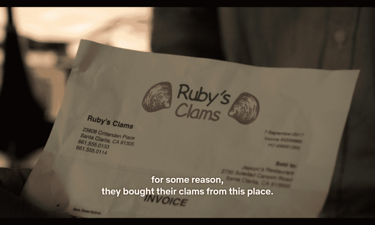 Ruby's Clams is the culprit.