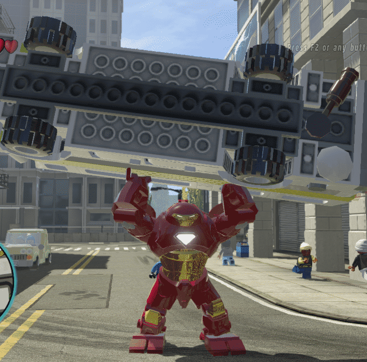 Hulkbuster lifting a bus