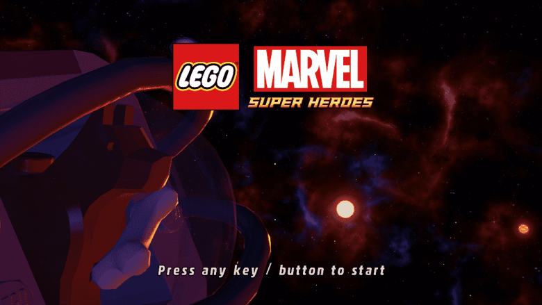 LEGO Marvel Superheroes Title Screen