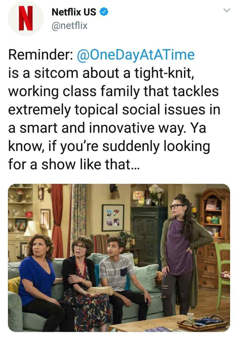 Netflix one day at a time roseanne tweet