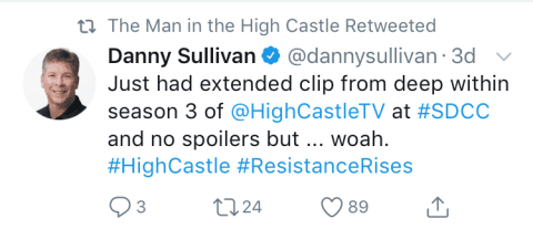 The Man in the High Castle Tweet