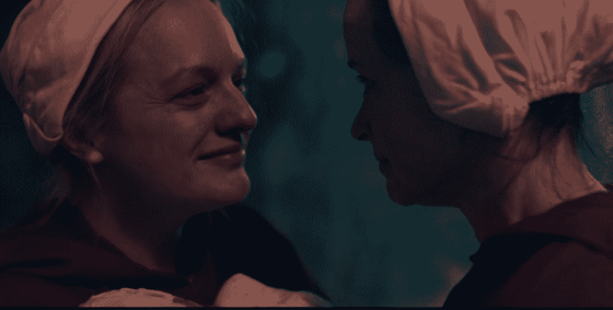 June and Emily on The Handmaid's Tale.