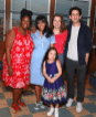 Robinson with cast members (left to right) Natasha Yvette Williams (Becky), Mariam Bedigian (Lulu), Katie Lowes (Dawn), and Adam Shapiro (Ogie). Photo by Walter McBride, BroadwayWorld.