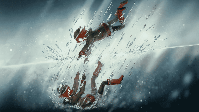 mira falling into water