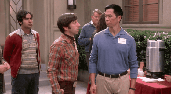 Raj, Howard, and Tam on The Big Bang Theory