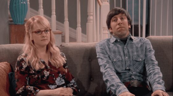 Bernadette and Howard on The Big Bang Theory