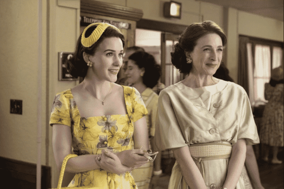 Midge and her mother on The Marvelous Mrs. Maisel