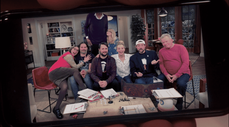 Amy, Joe Manganiello, Kareem Abdul-Jabbar, Wil Wheaton, Bernadette, Penny, Kevin Smith, and William Shatner on The Big Bang Theory