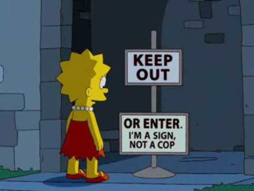 simpsons signs 1