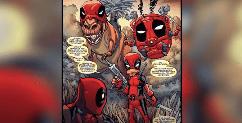 Deadpool: screenshot taken from Top 10 Nerd YouTube channel, top 10 strongest alternate versions of Deadpool video