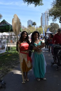 Moana and Princess Jasmine