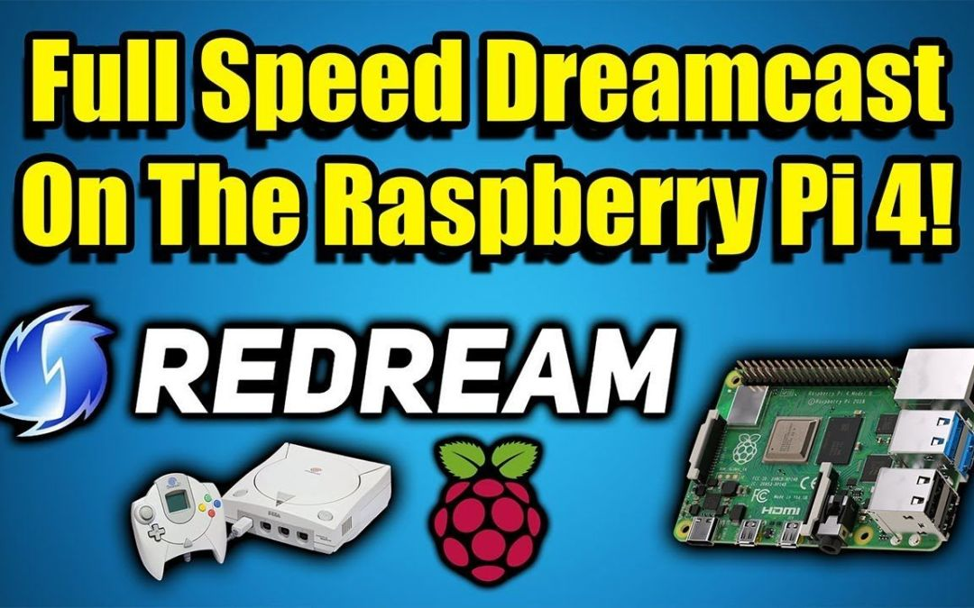 REDREAM On the Raspberry Pi 4! Full Speed Dreamcast Emulation!