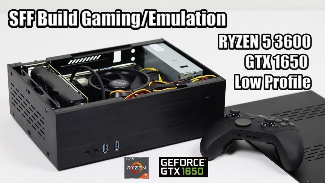 Small Form Factor Gaming Emulation Build Low Profile Gtx 1650 Ryzen 5 3600 The Gamepad Gamer