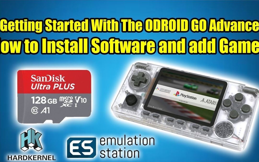 Get Started with The ODROID Go Advance – Install Software & Add Games